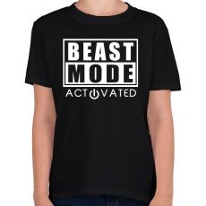 PRINTFASHION Beast Mode Activated - Gyerek póló - Fekete