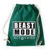 PRINTFASHION Beast Mode Activated - Sportzsák, Tornazsák - Sötétzöld