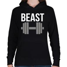 PRINTFASHION BEAST - Női kapucnis pulóver - Fekete