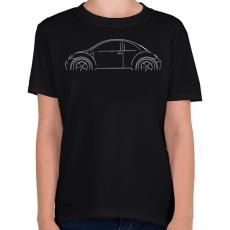 PRINTFASHION Beetle profil - Gyerek póló - Fekete