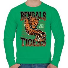 PRINTFASHION Bengáli tigris - Férfi pulóver - Zöld