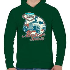PRINTFASHION Benzin - Férfi kapucnis pulóver - Sötétzöld
