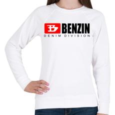 PRINTFASHION benzin - Női pulóver - Fehér