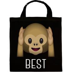 PRINTFASHION Best Friends - Monkey 1 - Vászontáska - Fekete