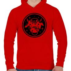 PRINTFASHION Bika - Férfi kapucnis pulóver - Piros