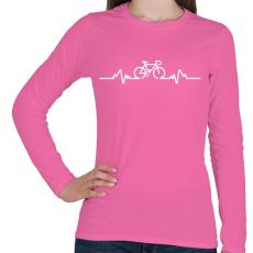 PRINTFASHION BIKE - Női hosszú ujjú póló - Rózsaszín