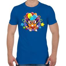 PRINTFASHION Birthday - Férfi póló - Királykék