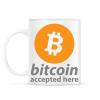 PRINTFASHION Bitcoin elfogadó - Bögre - Fehér