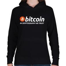 PRINTFASHION Bitcoin - Női kapucnis pulóver - Fekete