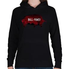 PRINTFASHION Bivalyerő - Női kapucnis pulóver - Fekete