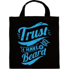 PRINTFASHION Bízz bennem, van szakállam - Vászontáska - Fekete