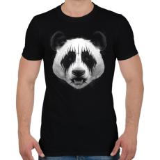 PRINTFASHION Black Metal Panda - Férfi póló - Fekete