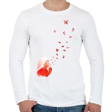 PRINTFASHION Blowing butterflies - Férfi hosszú ujjú póló - Fehér
