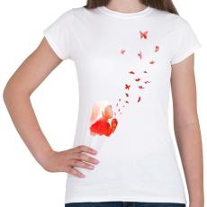 PRINTFASHION Blowing butterflies - Női póló - Fehér