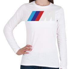 PRINTFASHION BMW M - Női hosszú ujjú póló - Fehér