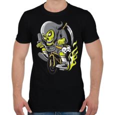 PRINTFASHION BMX kaszás - Férfi póló - Fekete
