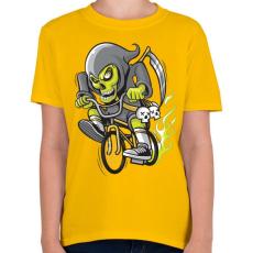 PRINTFASHION BMX kaszás - Gyerek póló - Sárga