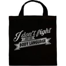 PRINTFASHION Body language - Vászontáska - Fekete