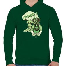 PRINTFASHION Boom - Férfi kapucnis pulóver - Sötétzöld