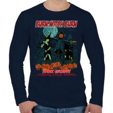 PRINTFASHION Boszorkányégetés - Férfi hosszú ujjú póló - Sötétkék
