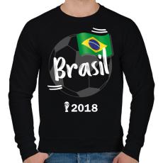 PRINTFASHION Brazília - Férfi pulóver - Fekete