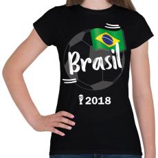 PRINTFASHION Brazília - Női póló - Fekete