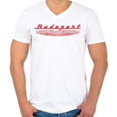 PRINTFASHION budapest-ikarus-red - Férfi V-nyakú póló - Fehér