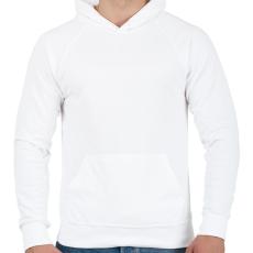 PRINTFASHION budapest-ikarus-white - Férfi kapucnis pulóver - Fehér