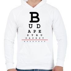 PRINTFASHION budapest-latasteszt - Férfi kapucnis pulóver - Fehér