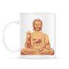 PRINTFASHION Buddha - Bögre - Fehér