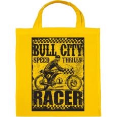 PRINTFASHION Bull city racer - Vászontáska - Sárga