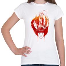 PRINTFASHION Burning forest - Női póló - Fehér