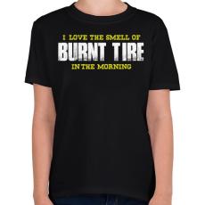 PRINTFASHION Burnt Tire - Gyerek póló - Fekete