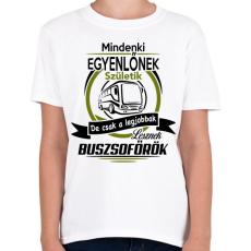 PRINTFASHION Buszsofőr - Gyerek póló - Fehér