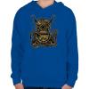 PRINTFASHION Búvár polip - Gyerek kapucnis pulóver - Királykék