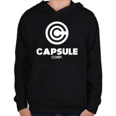 PRINTFASHION Capsule Corp - Gyerek kapucnis pulóver - Fekete
