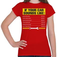 PRINTFASHION Car - Női póló - Piros