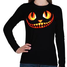 PRINTFASHION Cat - Női hosszú ujjú póló - Fekete