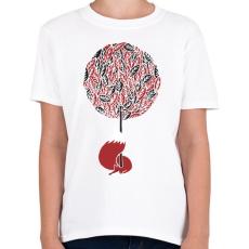PRINTFASHION Cherry tree - Gyerek póló - Fehér