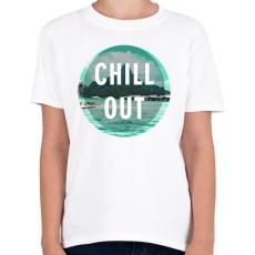 PRINTFASHION Chill Out - Gyerek póló - Fehér