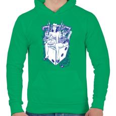 PRINTFASHION Cica - Férfi kapucnis pulóver - Zöld
