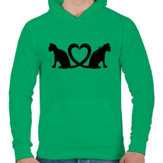 PRINTFASHION Cica imádat - Férfi kapucnis pulóver - Zöld