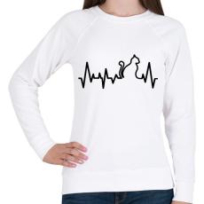 PRINTFASHION Cica szívverés - Női pulóver - Fehér