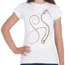 PRINTFASHION Cicmó - Női póló - Fehér