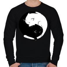 PRINTFASHION Cicus yin yang - Férfi pulóver - Fekete