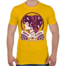 PRINTFASHION Cigány jósnő - Férfi póló - Sárga
