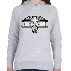 PRINTFASHION Combat Medic - Női kapucnis pulóver - Sport szürke