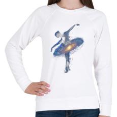 PRINTFASHION Cosmic dance - Női pulóver - Fehér