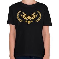 PRINTFASHION Counter Strike: Global Offensive Nova Rank - Gyerek póló - Fekete
