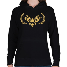 PRINTFASHION Counter Strike: Global Offensive Nova Rank - Női kapucnis pulóver - Fekete